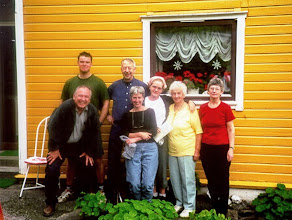 Photo: Our second Cousin Terje Ostrem introduced us to some of his/our relatives on our last day in Sauda before we moved on to other parts of Norway.