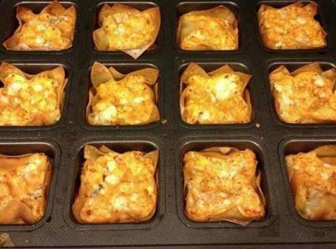 Buffalo Chicken Cups Recipe