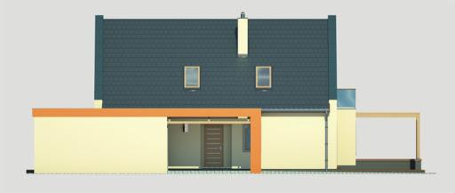 Vito wersja B2 podwójny garaż - Elewacja prawa