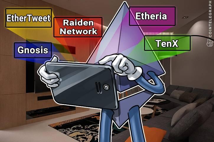 Ethereum-home amb una tauleta