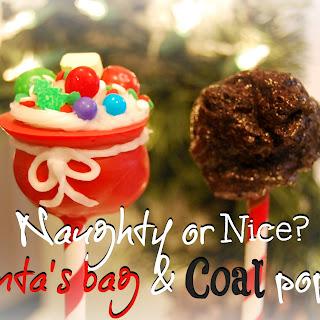 Santa's Bag And Coal Pops!