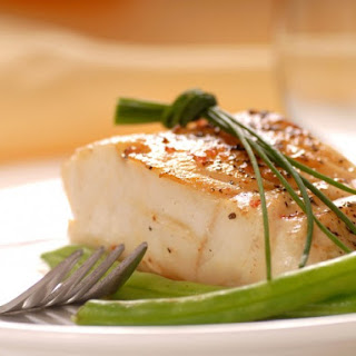 Pan-Seared Cod With Spiced Long Beans.