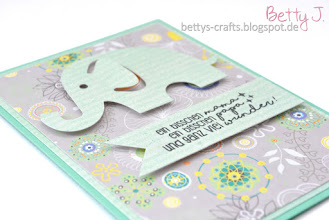 Photo: http://bettys-crafts.blogspot.com/2016/11/baby-karte-mit-elefant.html