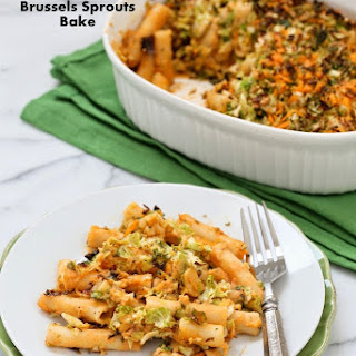 Ziti Cheddar Brussels Sprouts Bake