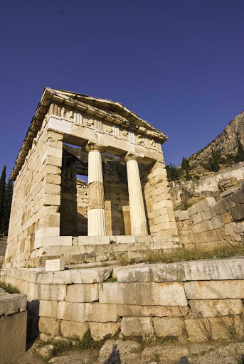 Take a tour of the ancient ruins at Delphi on Mount Parnassus on mainland Greece.
