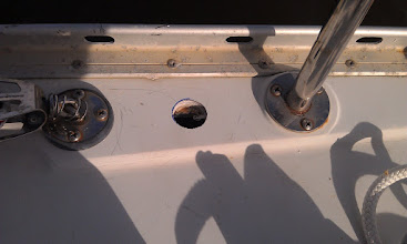Photo: hole for solar panel wires
