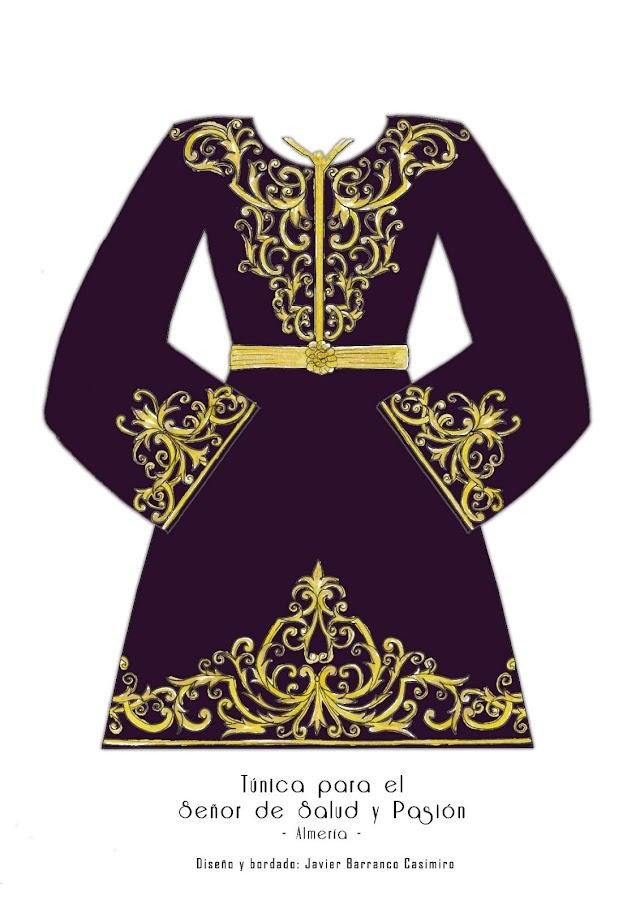Diseño de túnica para el Señor de Pasión de Javier Barranco.