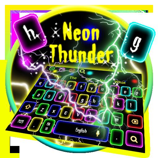 Flash Neon Lightning Keyboard Theme