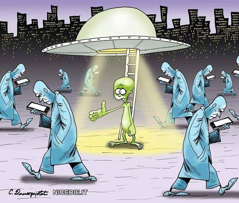 nell'era degli smartphome arrivano gli extraterrestri e non li calcola nessuno