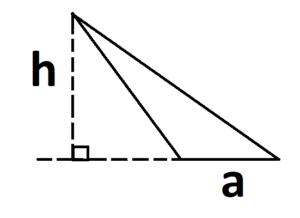 треугольник с продолжением основания