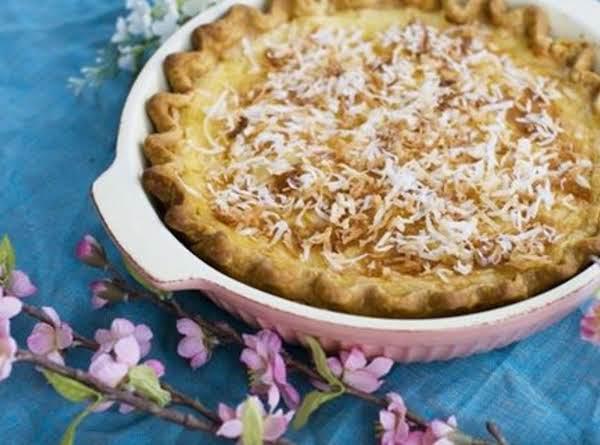 Orange-scented Coconut Cream Custard Pie