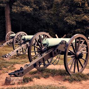 Gettysburg Battlefield  by Brook Kornegay - Artistic Objects Antiques ( battlefield, cannon, gettysburg,  )