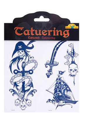 Tatuering skräck, piratskepp och ankare