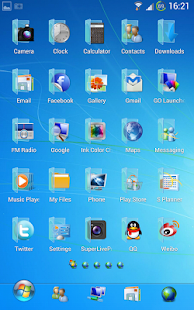 Blue Windows 7 GoLauncher Free- screenshot thumbnail