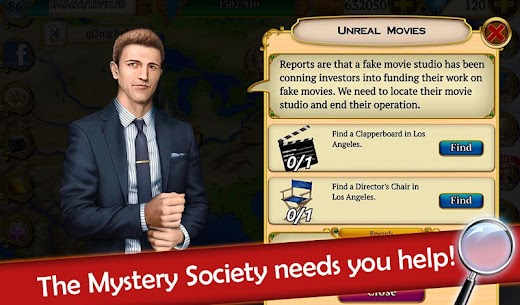 Hidden Objects: Mystery Society Crime Solving 10
