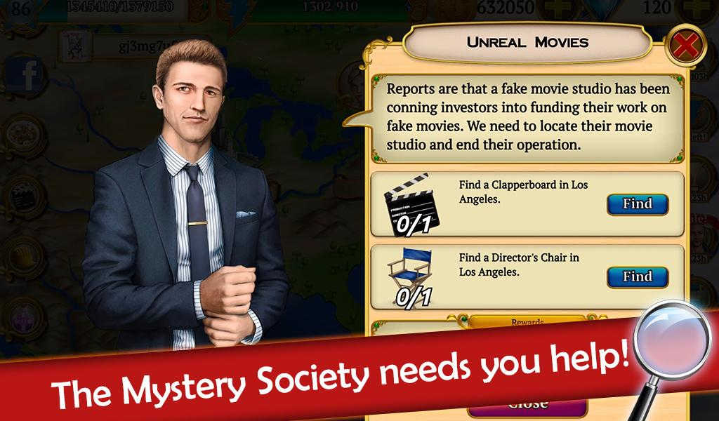 Hidden Objects: Mystery Society HD Free Crime Game- screenshot