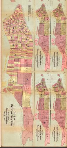 PLAN MANHATTAN 1870