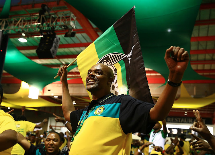 Delegates singing ahead of the ANC Elective conference starting in Nasrec.