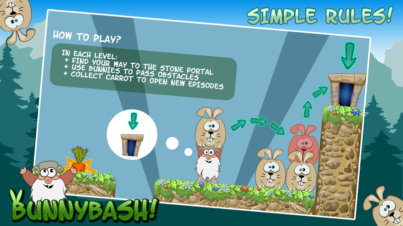 Скриншот Bunny Bash Free (Дед Мазай)