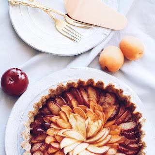 Peach, Apricot and Plum Stone Fruit Tart with Gluten-Free Almond Crust