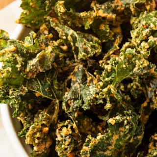 Kale Chips with Lemon Pepper Seasoning.