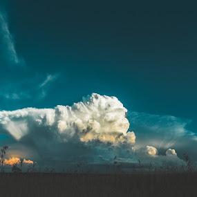 Cumulonimbus Cloud During Sunset by Jeffrey Zoss - Landscapes Weather ( weather, cloud, storm, landscape, cumulonimbus cloud )