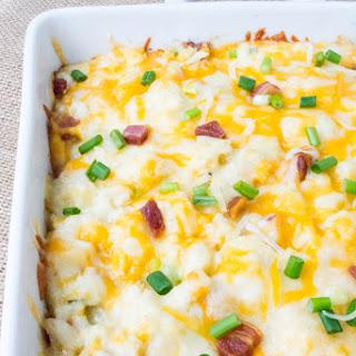 Loaded Mashed Cheesy Pancetta Cauliflower