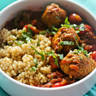 Pork Meatball Vindaloo With Pearl Couscous.