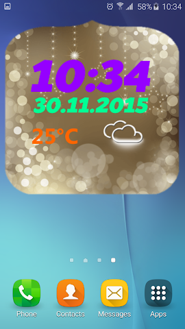 android Neujahr Wetter Uhr Screenshot 1