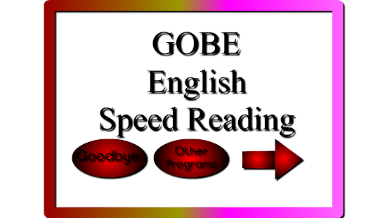 GOBE Speed Read - náhled