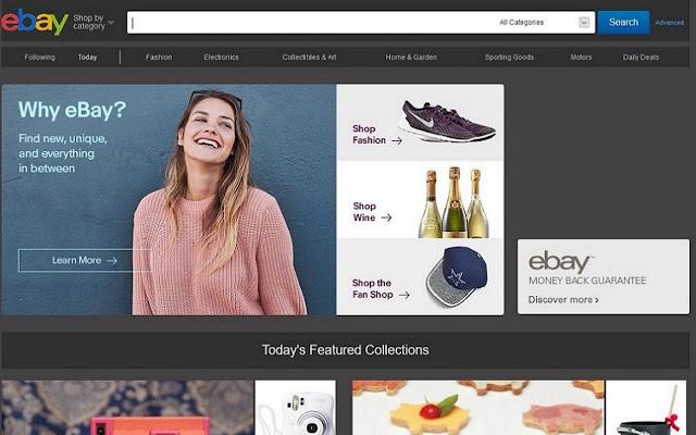 Black theme for Ebay