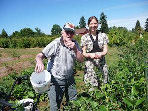Photo: Arly and Karuna picking blueberries