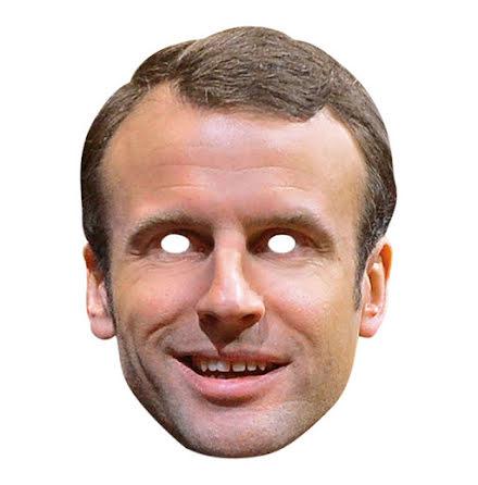 Pappmask, Emmanuel Macron