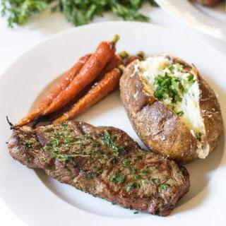 NY Steak with Cilantro Onion Dredge