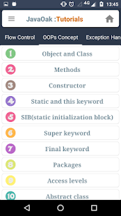 JavaOak: Java tutorials - náhled