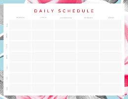 Daily Schedule Blocks - Daily Calendar item