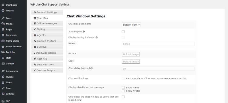 wp trực tiếp hỗ trợ trò chuyện cài đặt hộp trò chuyện