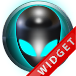 Poweramp Widget Lightblue Alie Icon