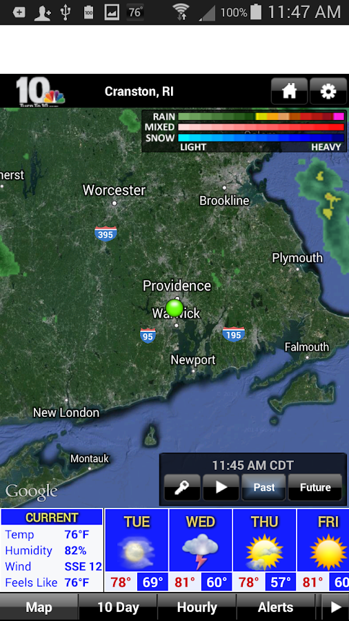 WJAR Radar- screenshot