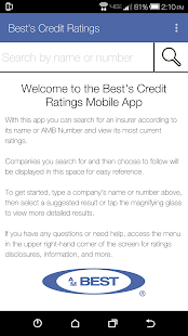 A.M. Best's Credit Ratings- screenshot thumbnail
