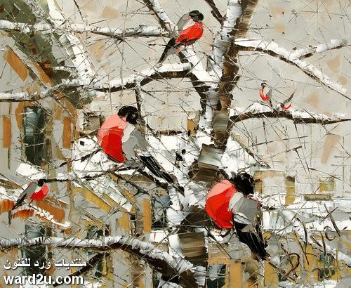 لوحات الفنان ديمترى كستانوفيتس dmitry kustanvich