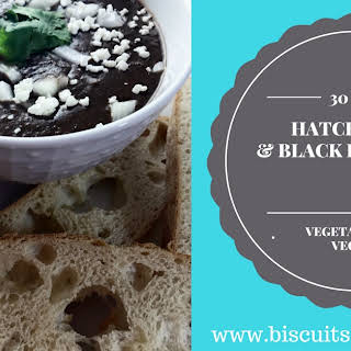 Hatch Green Chile and Black Bean Soup.