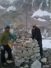 Photo: Building the Chorten for the Puja