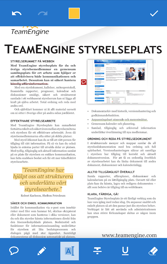 TeamEngine– skärmdump