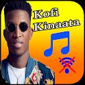Kofi Kinaata without internet icon