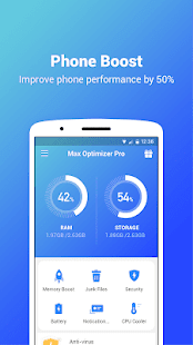Max Optimizer Pro - easy to use & boost phone fast Screenshot