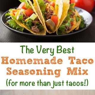 Homemade Taco Seasoning Mix.