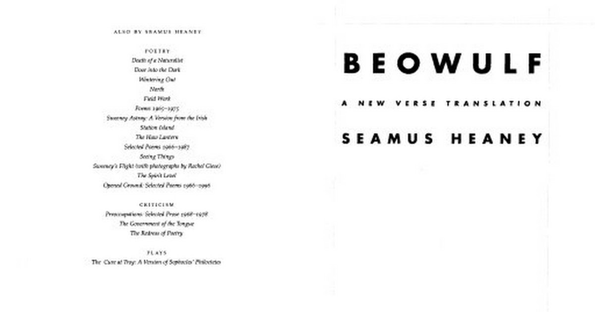 beowulf poem translated by seamus heaney