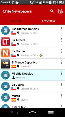 Chile Newspapers - screenshot