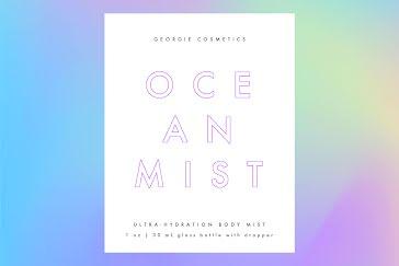Ocean Mist - Label template